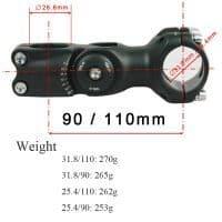 Регулируемый вынос руля велосипеда 25.4/31.8 мм