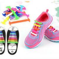 Силиконовые эластичные шнурки для обуви (16 шт. в наборе)