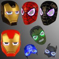 Светящиеся светодиодные детские маски супергероев