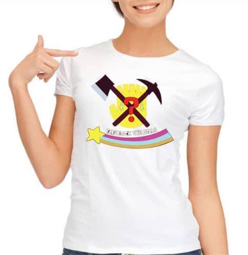 Женская белая футболка Гравити Фолз (Gravity Falls)