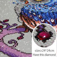 Дешевая алмазная вышивка (мозаика) картина стразами Сова в наборе