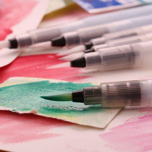Художественные акварельные кисти-ручки брашпены с резервуаром для воды для каллиграфии (в наборе 3 шт.)