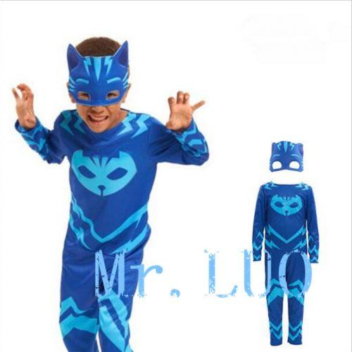 Детские костюмы Кэтбоя, Алетта и Гекко из мультфильма Герои в масках для мальчиков