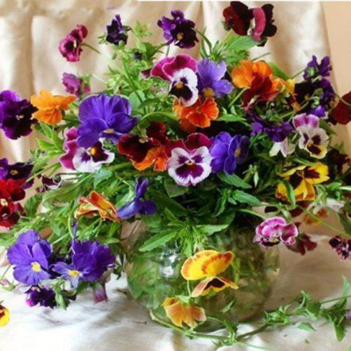 Дешевая алмазная вышивка (мозаика) картина стразами Букеты цветов в наборе