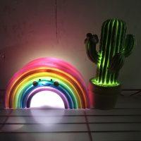 Светодиодный декоративный светильник ночник в виде радуги