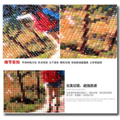 Дешевая алмазная вышивка (мозаика) картина стразами Осенний пейзаж в наборе