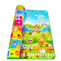 Детский мягкий развивающий непромокаемый коврик для игр на полу для малышей