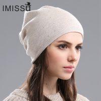 Женская шерстяная двойная повседневная шапка с подкладкой
