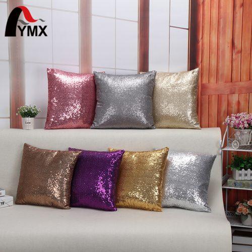 Декоративные наволочки на подушки 45х45 см с пайетками блестками