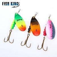 Вращающиеся блесны вертушки с лепестком для ловли рыбы 5 размеров
