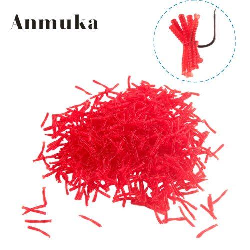 Приманка для ловли рыбы имитация красные черви в наборе 200 шт.