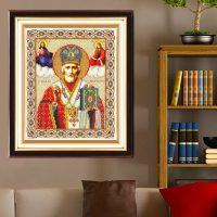 Дешевая алмазная вышивка (мозаика) картина стразами Икона в наборе