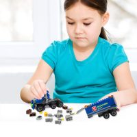 Конструктор для детей Самосвал 163 детали