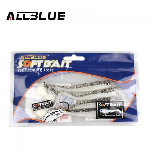 Искусственная мягкая силиконовая приманка виброхвост для рыбалки 6 г 11 см (в наборе 4 шт.)