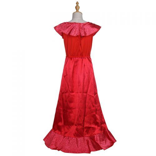 Детское красное платье Елены из Авалора для девочек