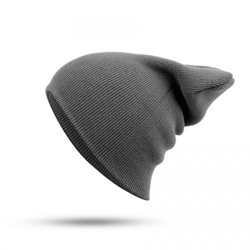 Женская и мужская хлопковая однотонная шапка