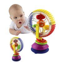 Интерактивная вращающаяся детская игрушка погремушка на присоске Колесо обозрения