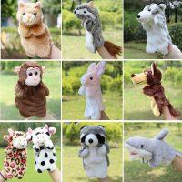 Мягкие игрушки животные на руку для кукольного театра