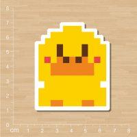 Пиксельные наклейки стикеры 25 шт.