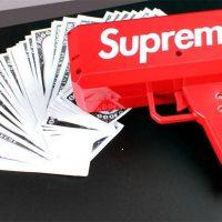 Денежный пистолет Supreme