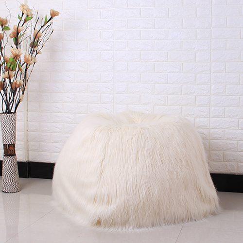 Пушистый меховой чехол на мешок кресло (без наполнителя)