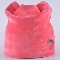 Женская трикотажная двойная шапка из мягкого материала со стразами