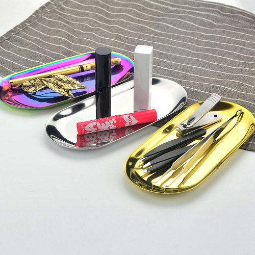 Металлический поддон лоток из нержавеющей стали для декора, хранения