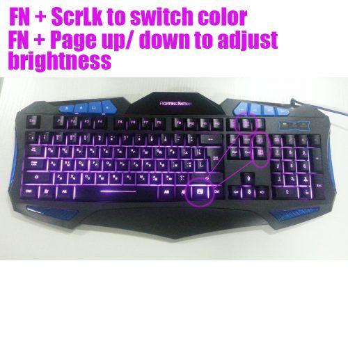 Водонепроницаемая механическая игровая клавиатура с подсветкой, с русской и английской раскладкой для компьютера