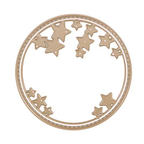 Круг со звездами ножи для вырубки для скрапбукинга 2 шт.