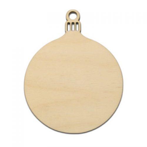 Набор деревянных круглых елочных игрушек фигурок для раскрашивания 10 шт.