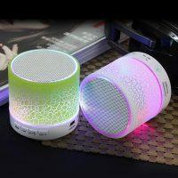 EASYIDEA Портативная беспроводная светящаяся Bluetooth колонка динамик с Fm радио и микрофоном