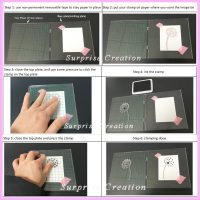 Блок доска для штампов с разметкой