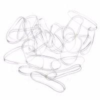Прозрачные силиконовые маленькие резинки для волос 100 шт.