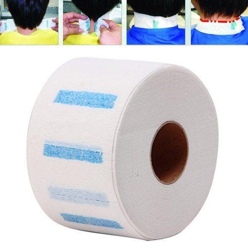 Бумажные одноразовые воротнички на шею для парикмахеров в рулоне