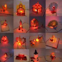 3D открытка со светодиодной подсветкой