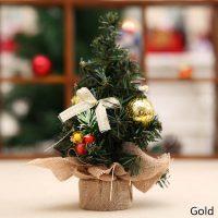 Новогодняя искусственная настольная мини елка с украшениями