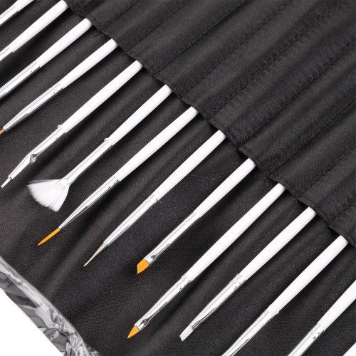Набор кистей и дотов в чехле для маникюра, дизайна ногтей 20 шт./компл.