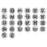 Штамп для сургучной печати со сменными 24 насадками с буквами алфавита