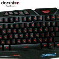 DARSHION TOUCH DREAM Водонепроницаемая механическая игровая клавиатура с подсветкой, с русской и английской раскладкой для компьютера
