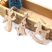 Набор деревянных елочных игрушек фигурок для раскрашивания 10 шт.