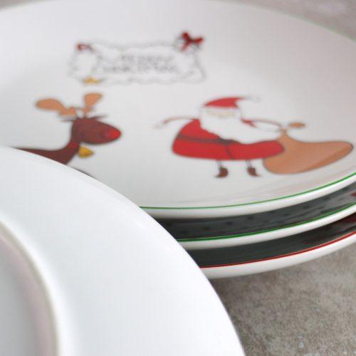 Новогодние керамические тарелки