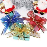 Декоративная лента из органзы для украшения новогодних подарков