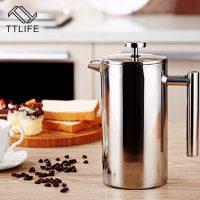 Чайник кофеварка перколятор из нержавеющей стали для кофе 350/800/1000 мл