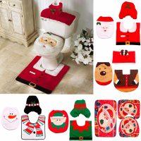 Новогоднее украшение-декор унитаза (снеговик, эльф, олень, санта клаус)