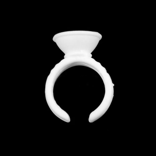 Одноразовые пластиковые кольца для клея для процедуры наращивания ресниц 100 шт.