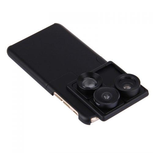 Чехол с тремя сменными линзами для камеры для iPhone 6s, 6s Plus