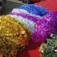Новогодняя мишура украшение для декора 2 м