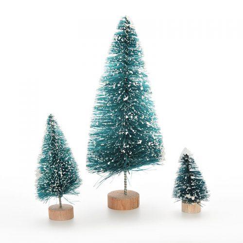Новогодние искусственные пушистые настольные мини елки (4.5/6.5/12 см)