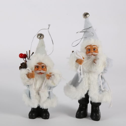 Новогодняя елочная игрушка фигурка Деда Мороза (Санта Клауса) 16/22 см