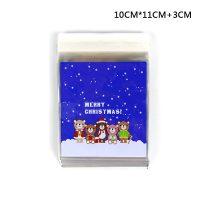 Упаковка пакетики для печенья или маленьких подарков с новогодними рисунками 25 шт.